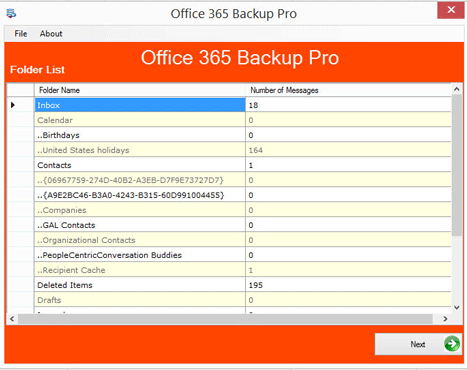 Office 365 Backup and Restore software